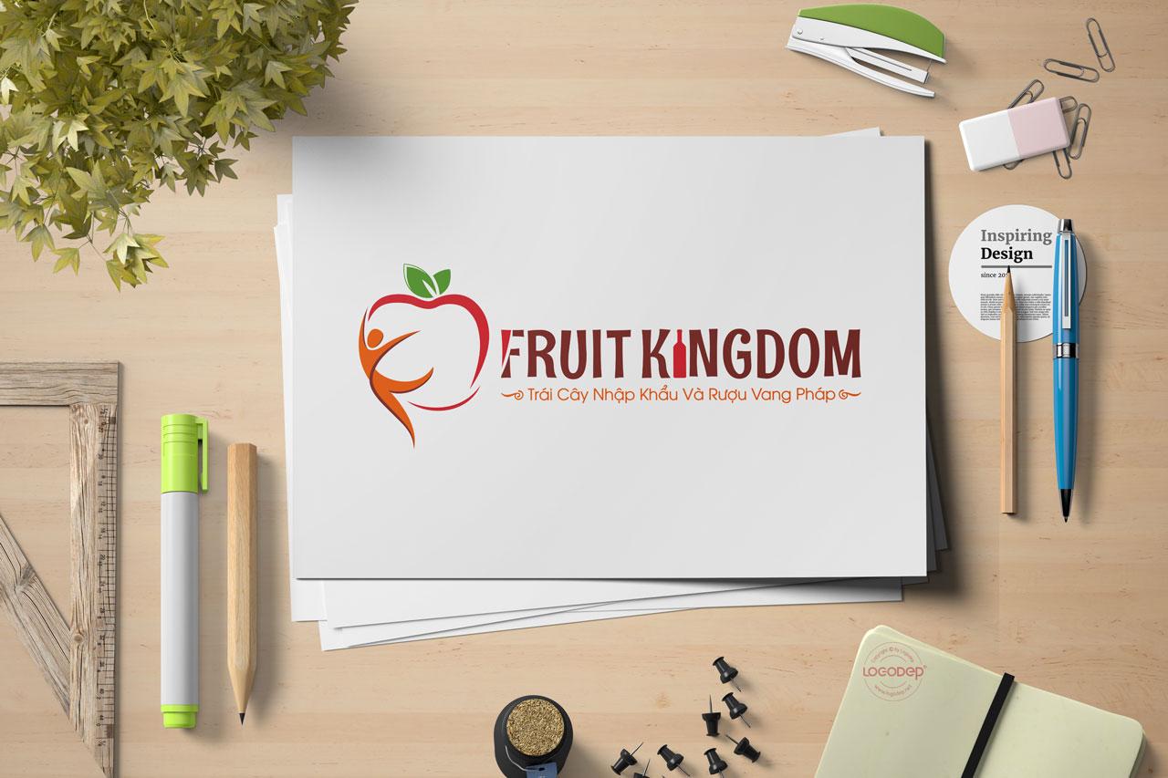 Thiết Kế Logo Thương Hiệu FRUIT KINGDOM Tại Logodep.net